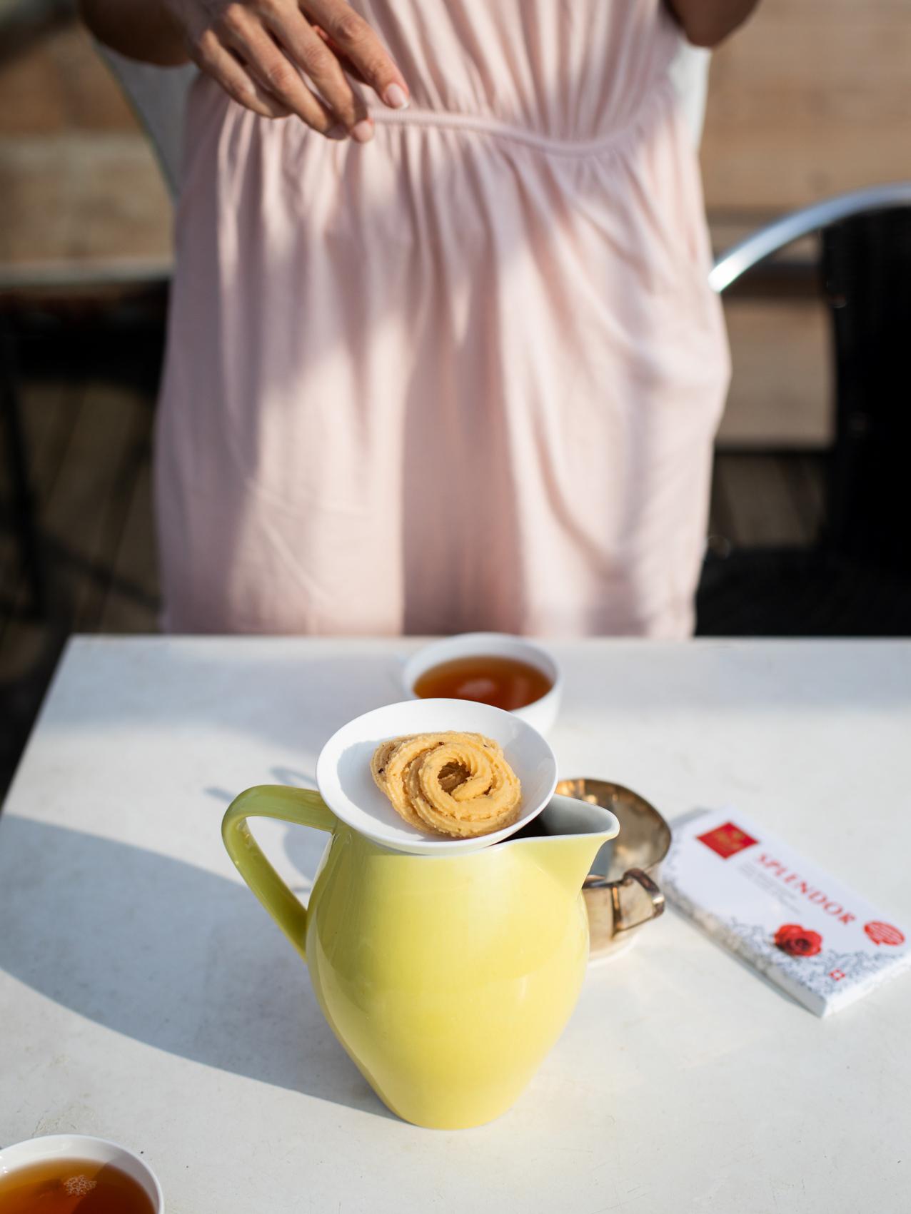 04_04_13_2020_shutdown, auf der Dachterasse, Tee mit der Nachbarin